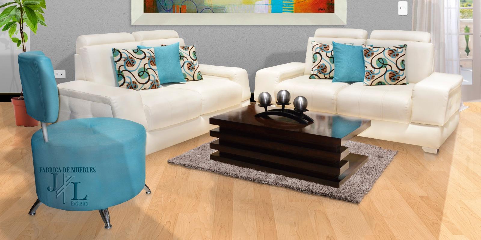 Juego de sala vallery muebles jl exclusivo for Juego de muebles para sala modernos