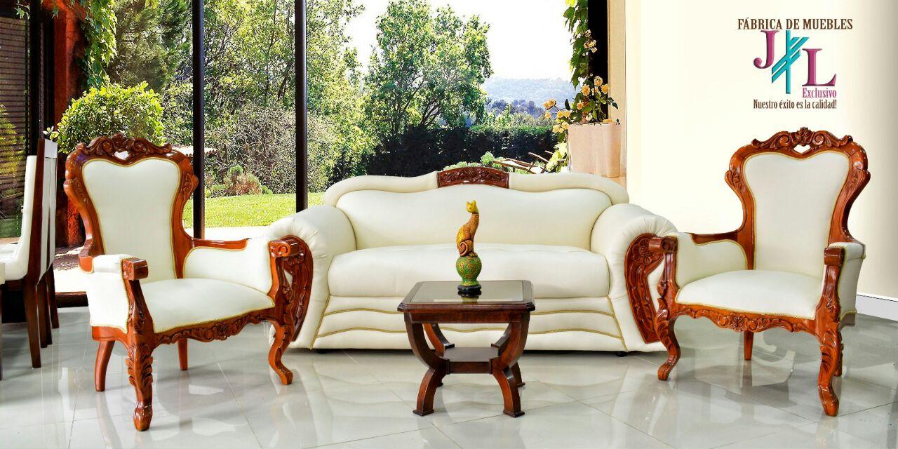 Sala isabelina imperial muebles jl exclusivo for Muebles de sala nombres